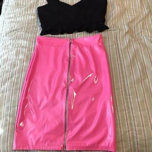 Pretty Little Thing Hot pink skirt! XXS!